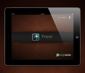 Prayer app for iPad - Splash screen