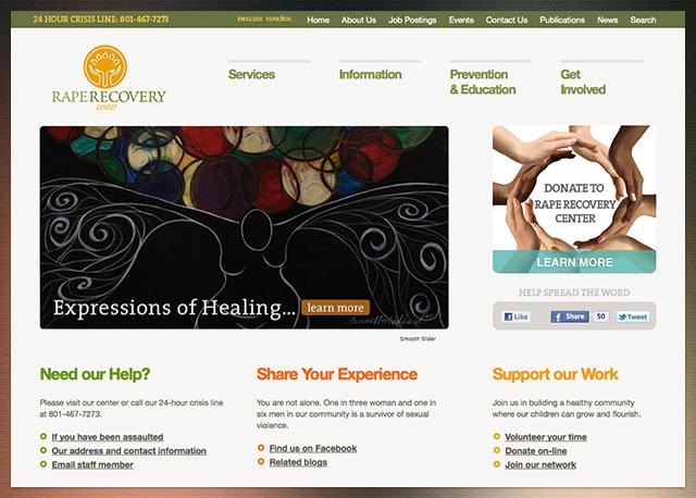 Rape Recovery Center Website - Wordpress Theme and Development