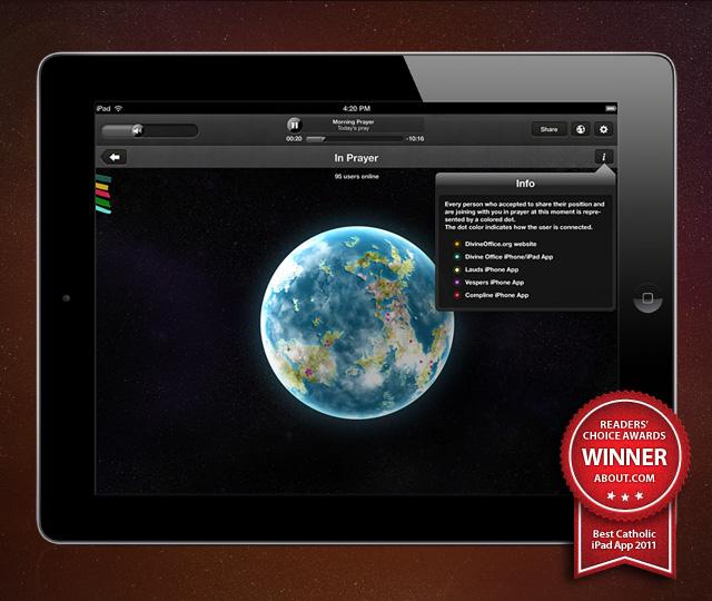 Divine Office for iPad - In Prayer Globe